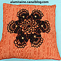 coussin Catherine orange 10