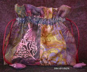 Sak batik rose mauve S