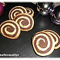 Biscuits escargot chocolat-vanille