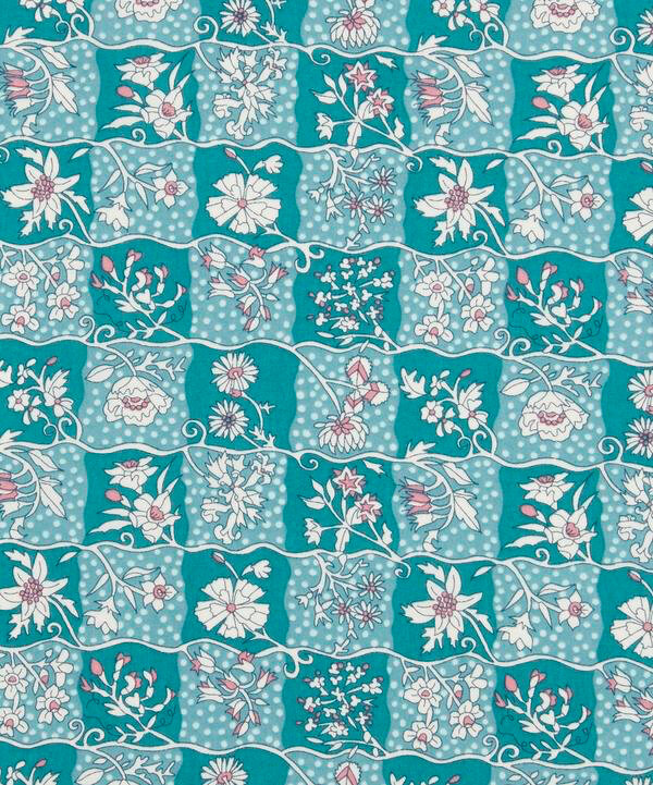 03638154A- CW Gingham Garden turquoise