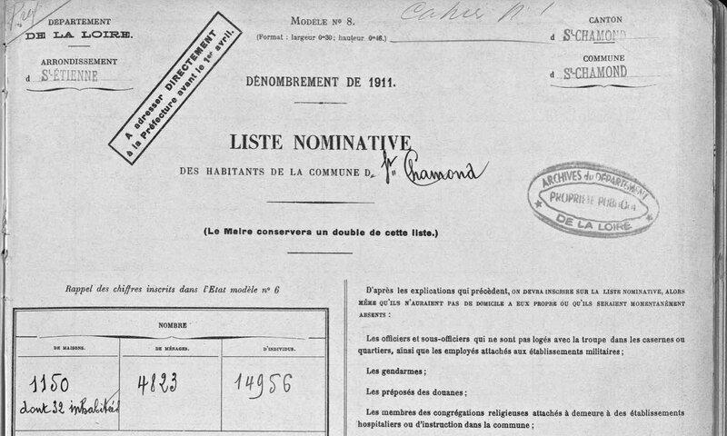 page couv recensement 1911