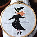 Flying needle witch by lori brechlin