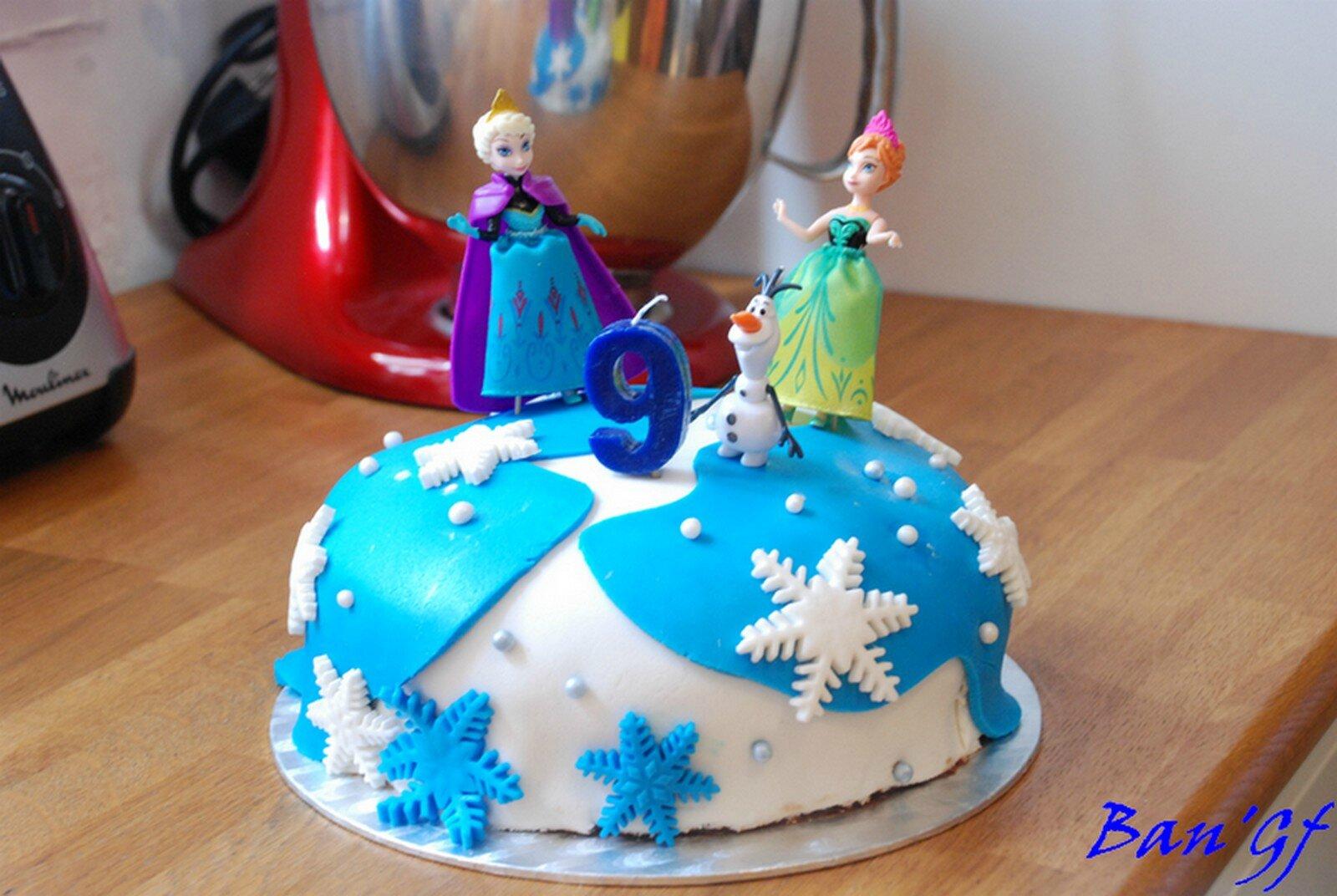 La Reine des Neiges....en gâteau!