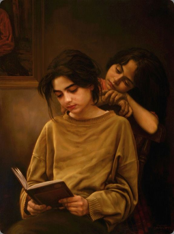 sisters and book