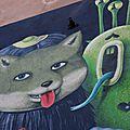 Fresque murale place de la Bourse