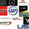 Liste des pilotes de f1 pour cette saison (la liste sera complete bientôt)