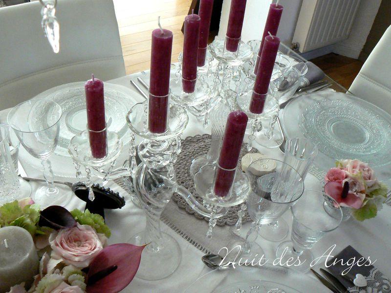 Nuit des anges décoratrice de mariage décoration de table féérique romantique 007