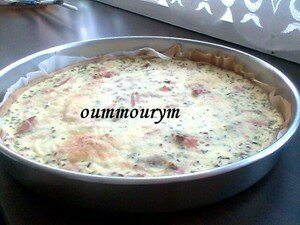 Ma quiche au saumon