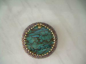 cabochon turquoise serti, accessoire