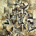 CUBISME 1910_Violon et chandelier_Braque