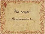 etiquette vin rouge