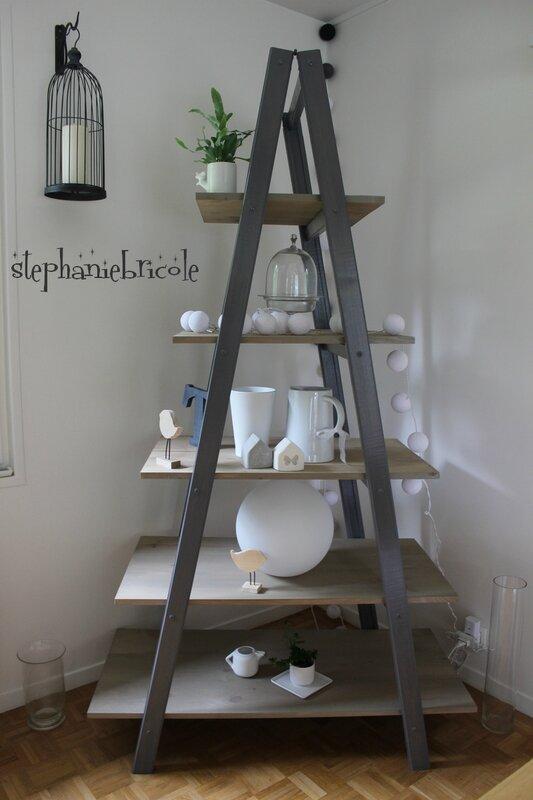 blog diy, faire une échelle étagère