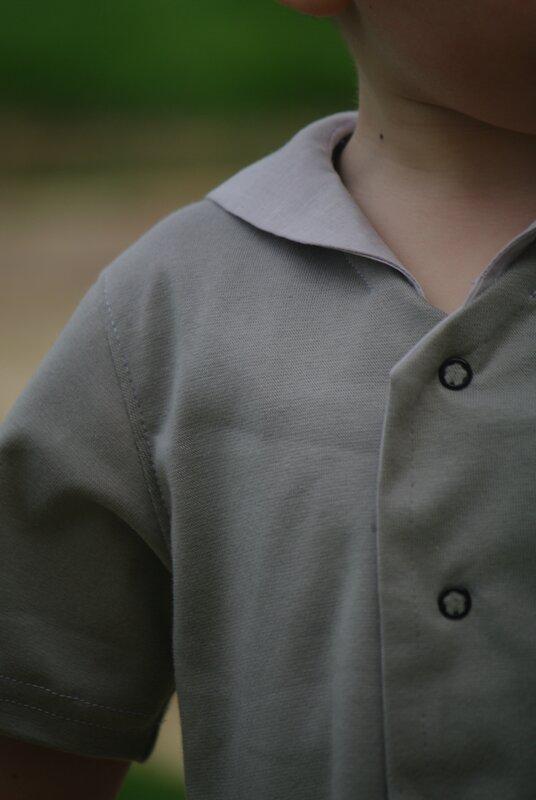 coudre une chemisette à col marin