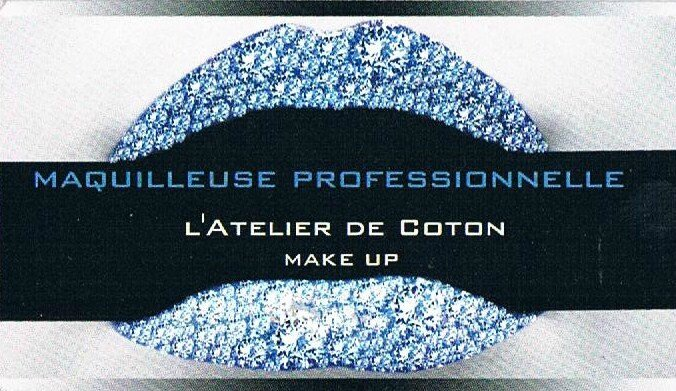 Fantastique mes Cartes de Visites - l'Atelier de Coton MAKE UP IU-12