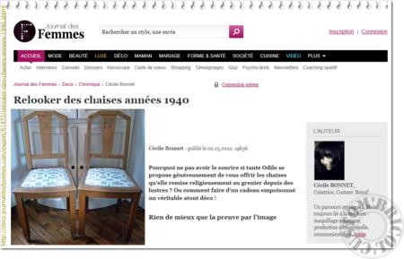 Article Le journal des femmes le 03-05-2012