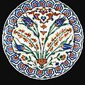 A large iznik polychrome pottery dish, turkey, circa 1575