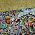 Culotte CHARLOTTE en coton gris imprimé mongolfière - taille M (2)