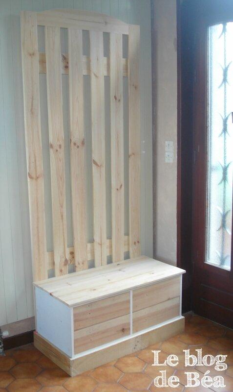 DIY vestiaire en bois de paletteset médium