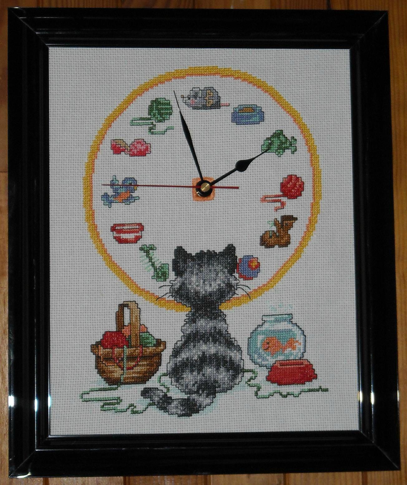 Horloge chat FINIE
