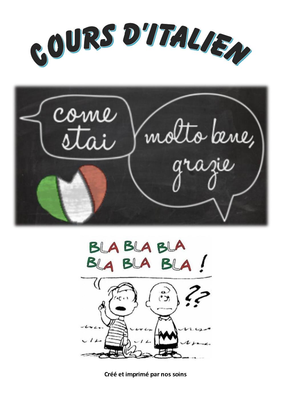 Cours d'italien 2018 - 2019