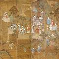 A monumental 'daoist paradise' ten-fold screen, 18th/19th century
