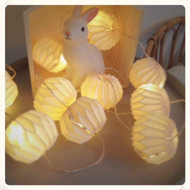Guirlande lumineuse veilleuse lampe origami papier Maisons du Monde concours jeux gagner decotrendy 07