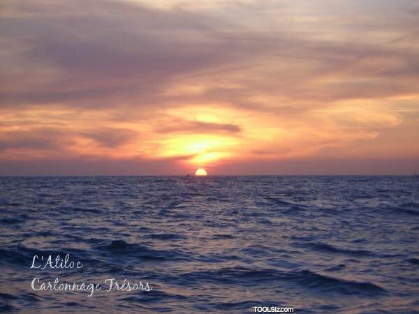 coucher sur mer
