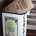 Boîte à tablettes de chocolat