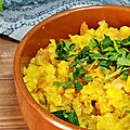 Curry de lentilles corail (dhal)