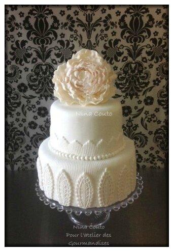nina couto wedding cake blanc