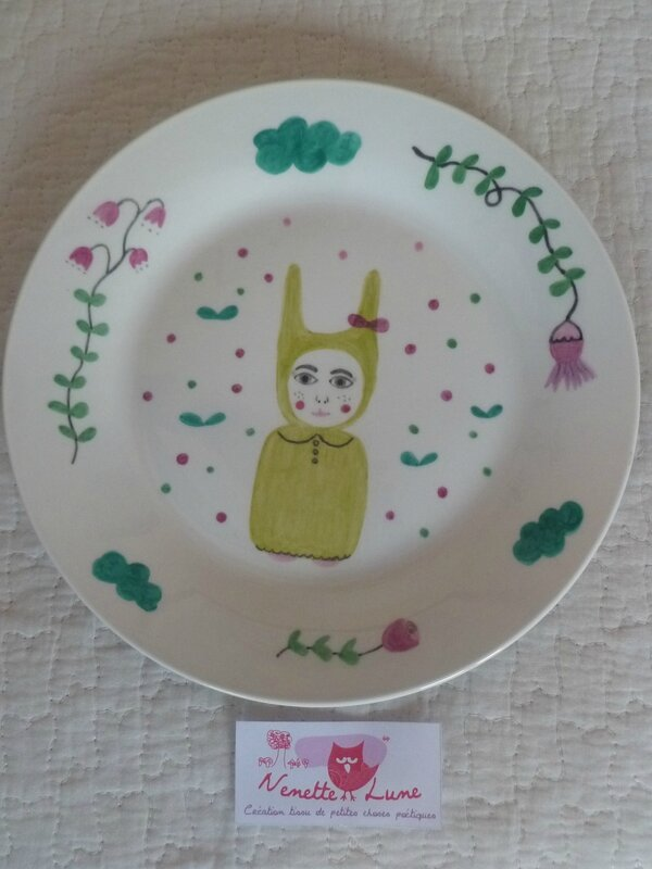 porcelaine le thé, coussin vichy rose fluo 012