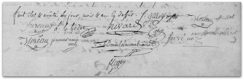 Fontenay municipalité signatures 1794 z