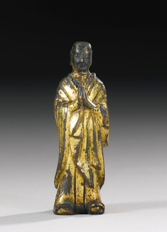 A gilt-bronze figure of Ananda, Northern Wei dynasty (386-534)1