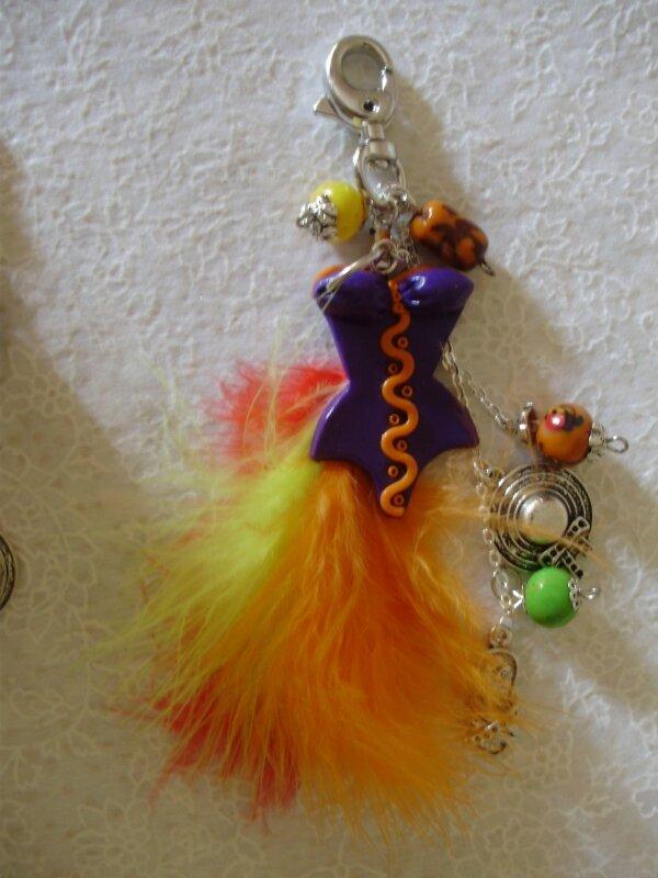 bijoux de sac avec mousqueton