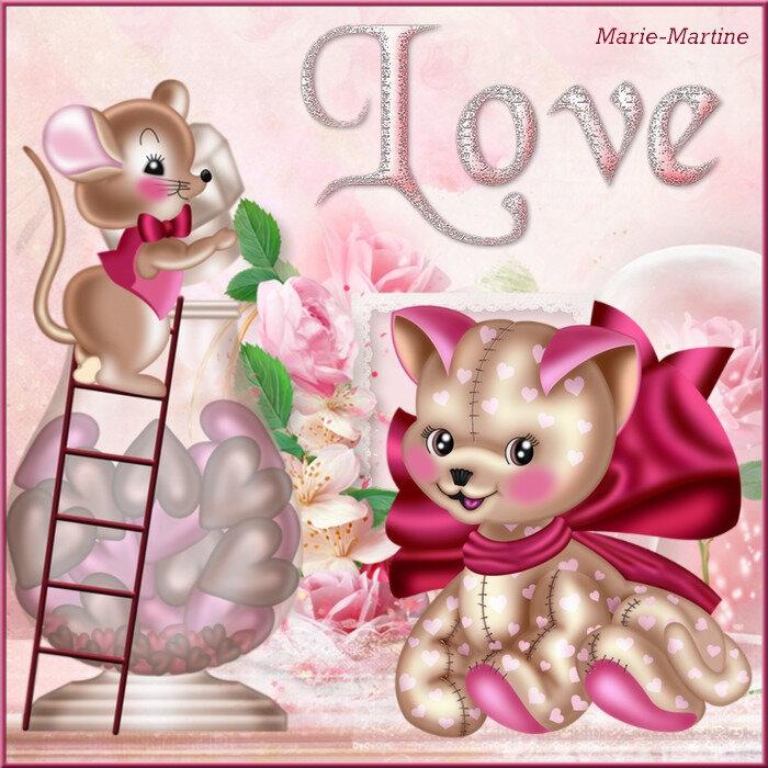 chat et souris love