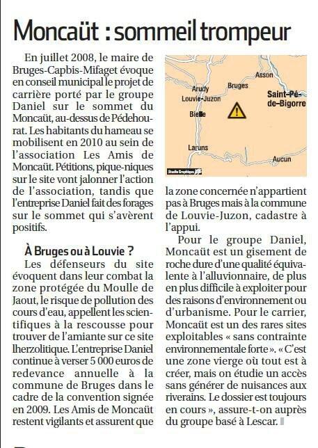La République des Pyrénées carrières oloron Moncaut
