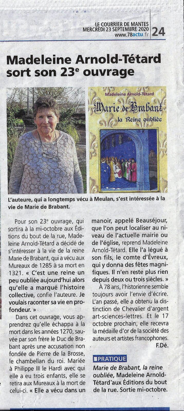 Courrier Mantes 23 sept