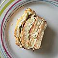 Croque cake saumon courgette