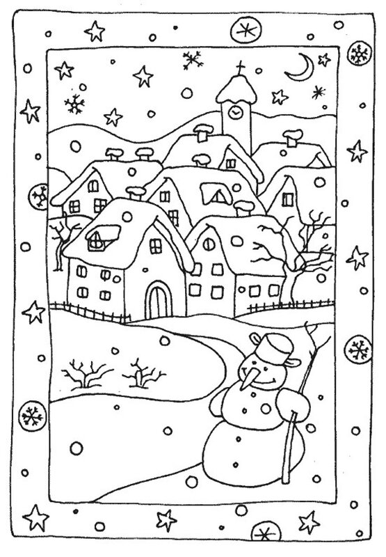 free-winter-coloring-pages-snowy-houses