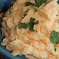 Ecrase de pommes de terre et carottes aux epices