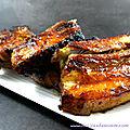 Spare ribs caramélisés au sirop d'érable (au four ou au barbecue)