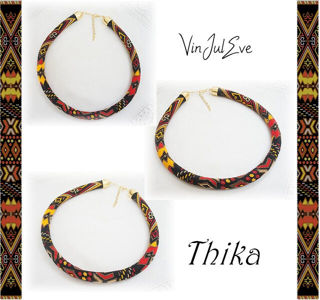 collier spirale crochet Thika
