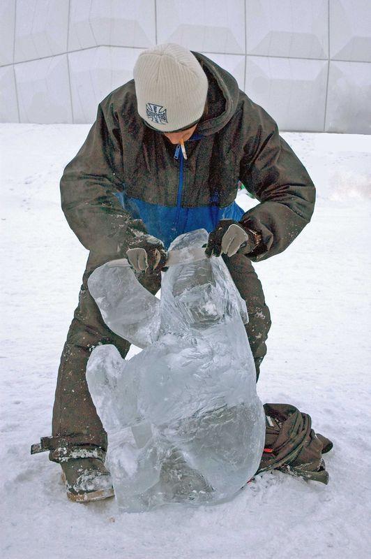 Nunavut- Sculpture de glace