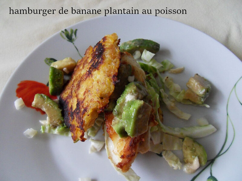 hamburger de banane plantain au poisson