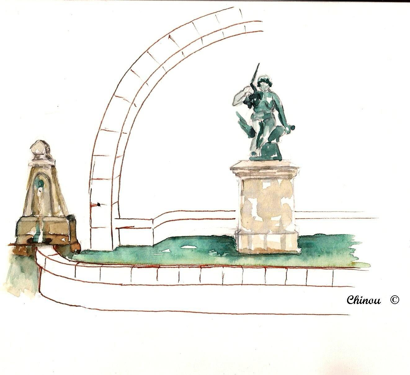 Saint Paul de Jarrat : la fontaine