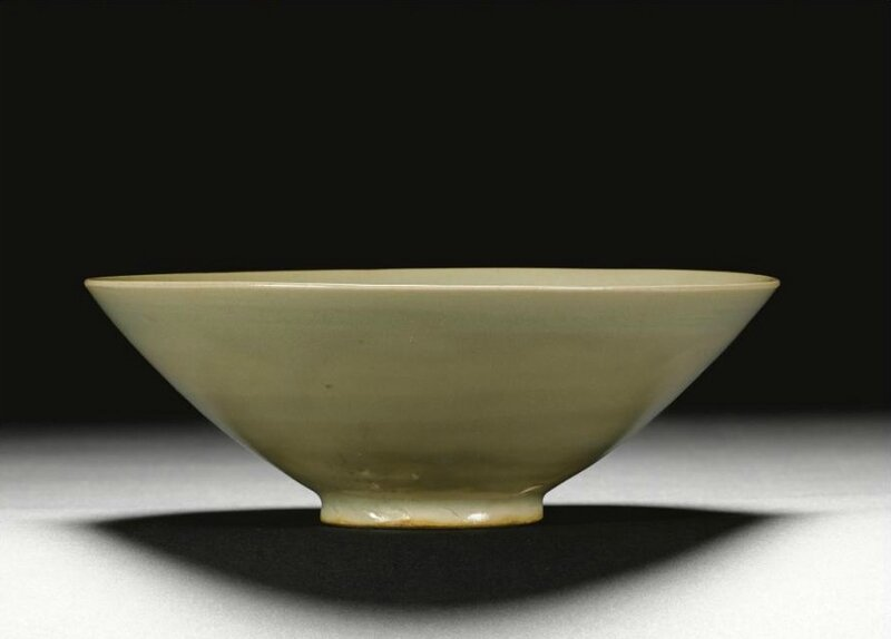 A 'Yaozhou' celadon-glazed conical bowl, Northern Song dynasty (960-1127)