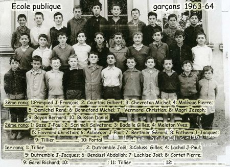 BOURG-GARCONS 1963-64