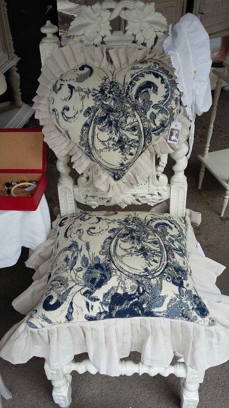 coussins de Chaise tissu baroque bleu