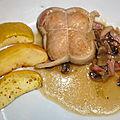 Paupiettes de porc, lardons et champignons (cookéo)