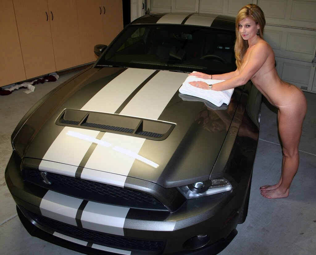 nude babes with mustangs